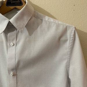 H&M Men's Slim Fit Shirt w/ Pinpoint Dotted Design